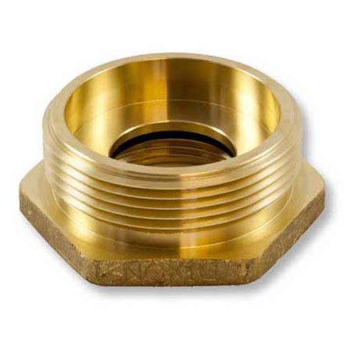 "Brass 1 1/2"" Female NPT to 2 1/2"" Male NH (Hex) Female To Male Adapter"