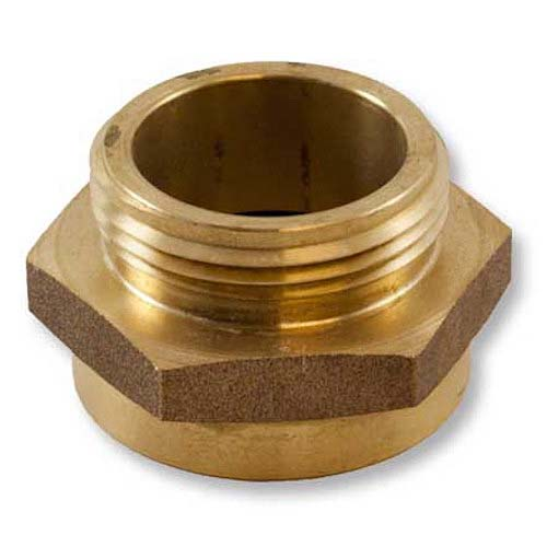 "Brass 1 1/2"" Female NYFD to 1 1/2"" Male NPT (Hex) Hex Rigid Female To Rigid Male Adapter"
