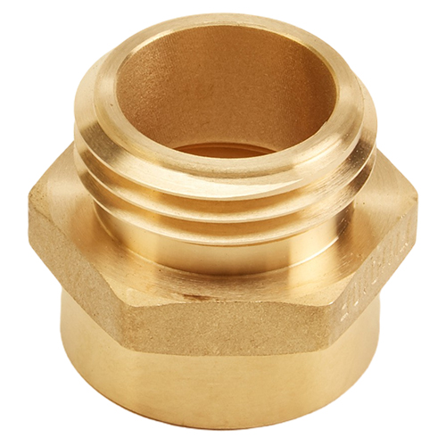 "Brass 1"" Female NPT to 1"" Male NH (Hex)"