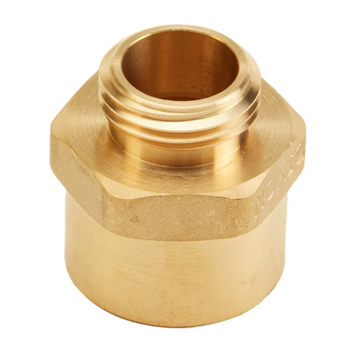 "Brass 1"" Female NPT to Male GHT (Hex)"