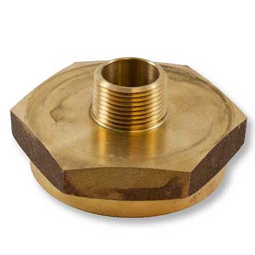 """Brass 2 1/2"""" Female NH / NST to 3/4"""" Male NPT (Hex) Hex Female To Male Adapter"""