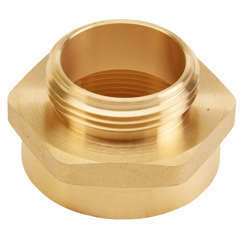 "Brass 2"" Female NPT to 1 1/2"" Male NH (Hex)"
