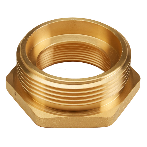 "Brass 2"" Female NPT to 2 1/2"" Male NH (Hex)"