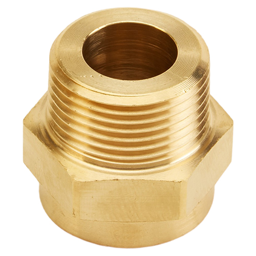"Brass Female GHT to 1"" Male NPT (Hex)"