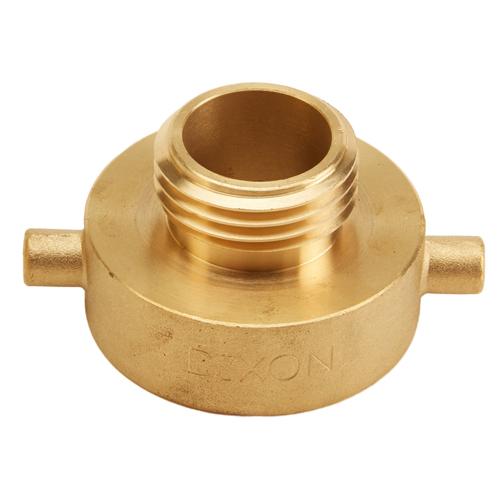 "Brass 1 1/2"" Female NH to 1"" Male NH (Pin Lug)"