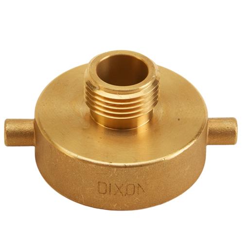 "Brass 1 1/2"" Female NYFD to Male GHT (Pin Lug)"