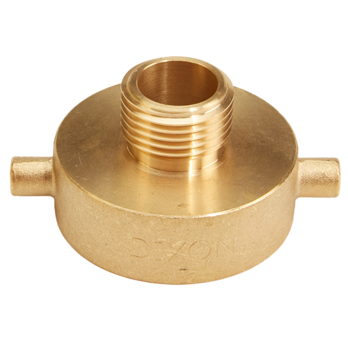 "Brass 1 1/2"" Female NPSH to Male GHT (Pin Lug)"