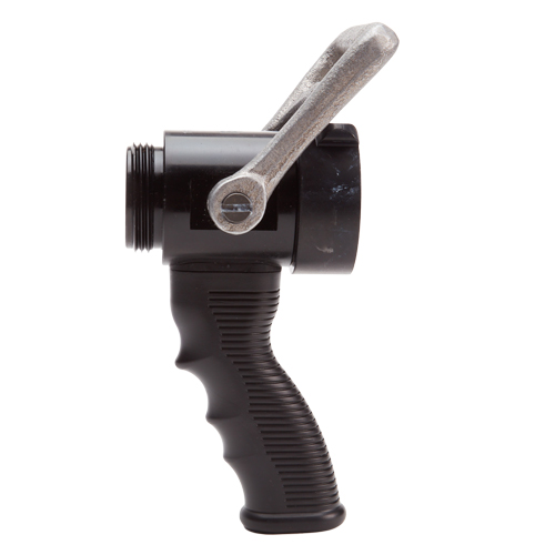 "Aluminum Heavy-Duty 1 1/2"" NH Ball Shut-Off With Pistol Grip"