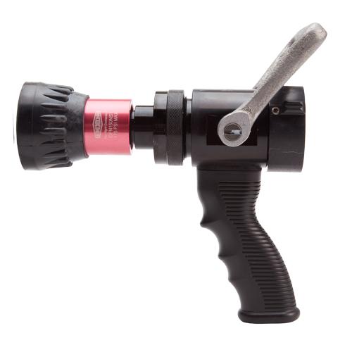 """Aluminum 1 1/2"""" Pistol Grip Red Fire Nozzle (NPSH)"""