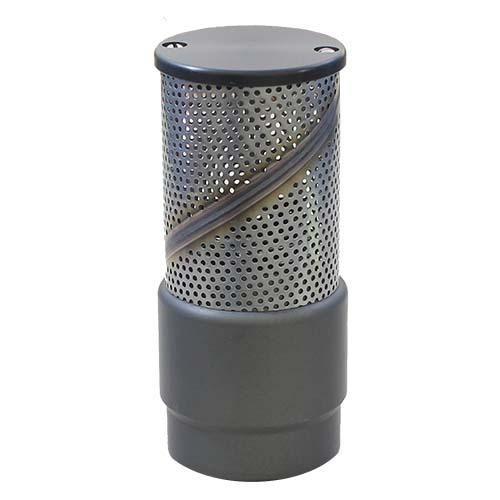 "Aluminum 1 1/2"" NH Barrel Strainer with Foot Valve Aluminum NH Barrel Strainers"