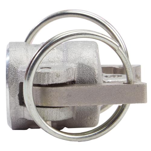 """Aluminum 1/2"""" Female Camlock Dust Cap (USA) - DA05DC"""