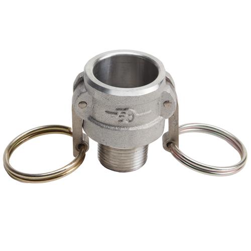 "Aluminum 3/4"" Female Camlock x 3/4"" Male NPT (USA)"