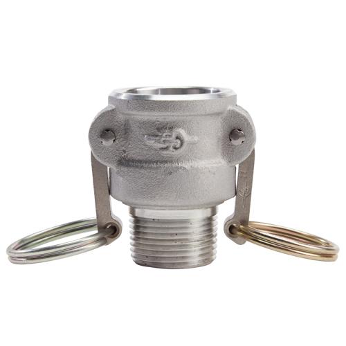 """Aluminum 1"""" Female Camlock x 1"""" Male NPT (USA) - DA10F10MN"""