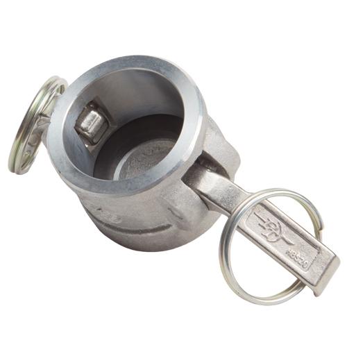 """Aluminum 1 1/4"""" Female Camlock Dust Cap (USA) - DA12DC"""