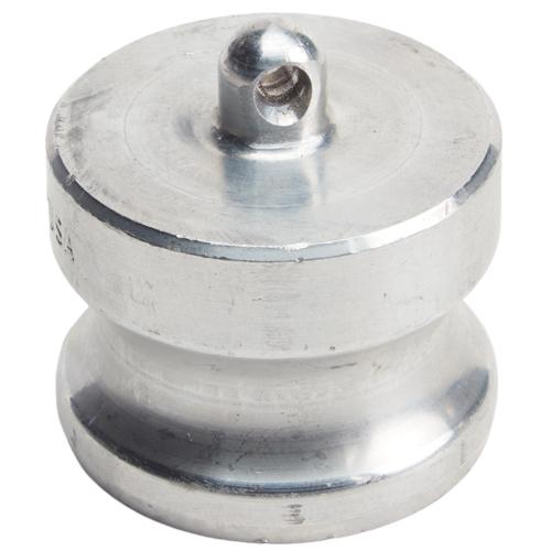 "Aluminum 1 1/4"" Male Camlock Dust Plug (USA)"