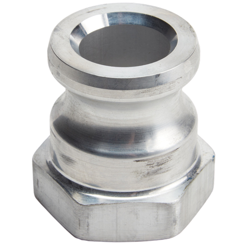 "Aluminum 1 1/4"" Male Camlock x 1 1/4"" Female NPT (USA)"