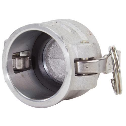"""Aluminum 1 1/2"""" Female Camlock Dust Cap (USA) - DA15DC"""