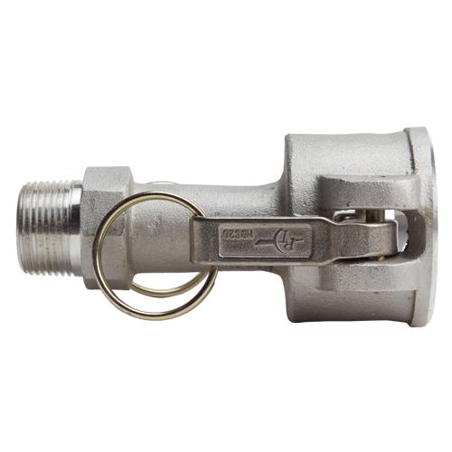"""Aluminum 1 1/2"""" Female Camlock x 1"""" Male NPT (USA) - DA15F10MN"""