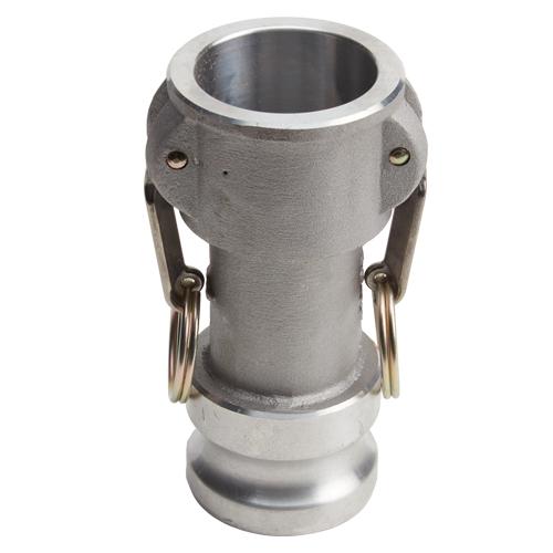 """Aluminum 1 1/2"""" Female Camlock x 2"""" Male Camlock (USA)"""