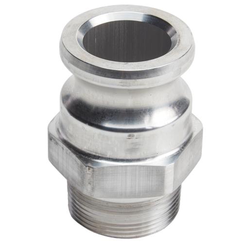 """Aluminum 1 1/2"""" Male Camlock x 1 1/2"""" Male BSP (USA)"""