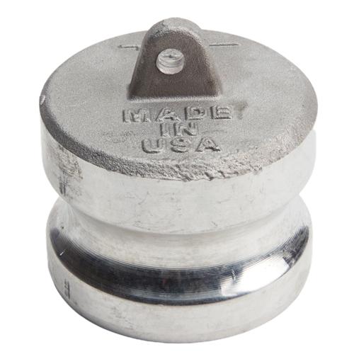 "Aluminum 2"" Male Camlock Dust Plug (USA)"