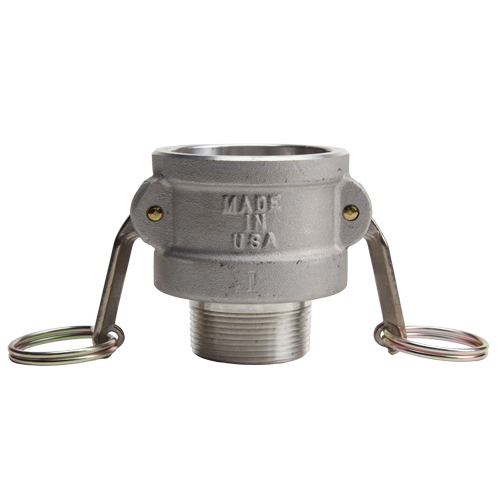 """Aluminum 2"""" Female Camlock x 1 1/2"""" Male NPT (USA) - DA20F15MN"""