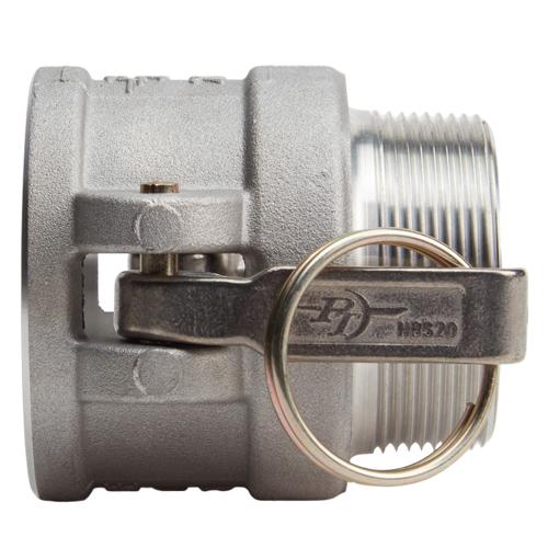 """Aluminum 2"""" Female Camlock x 2"""" Male NPT (USA) - DA20F20MN"""