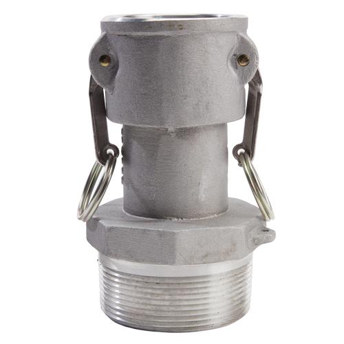 """Aluminum 2"""" Female Camlock x 3"""" Male NPT (USA) - DA20F30MN"""