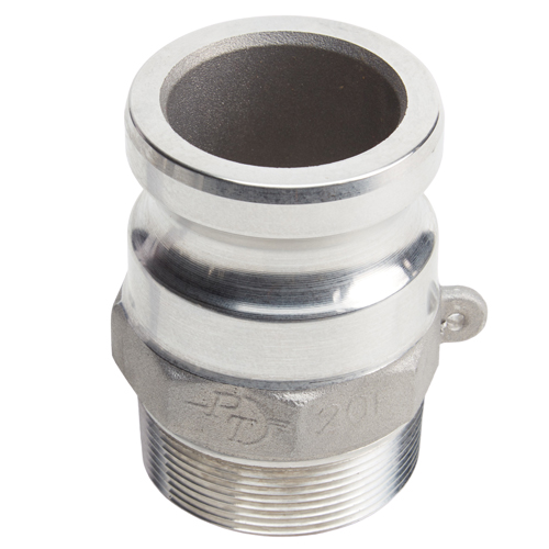 """Aluminum 2"""" Male Camlock x 2"""" Male BSP (USA)"""