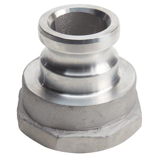 "Aluminum 2"" Male Camlock x 3"" Female NPT (USA)"