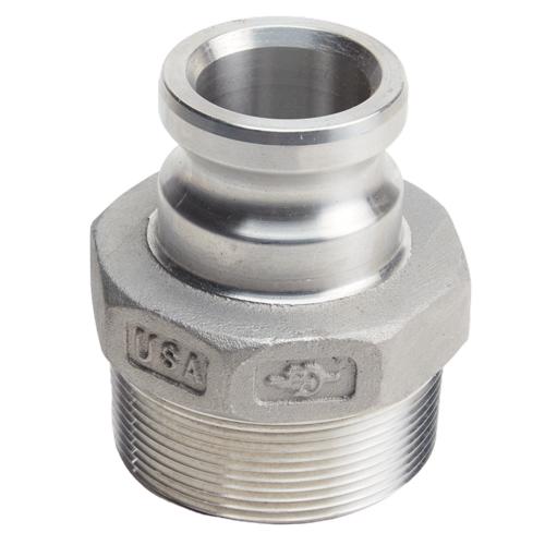 "Aluminum 2"" Male Camlock x 3"" Male NPT (USA)"