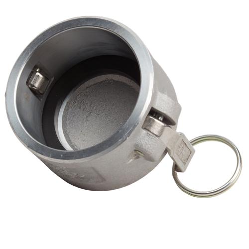 """Aluminum 2 1/2"""" Female Camlock Dust Cap (USA) - DA25DC"""