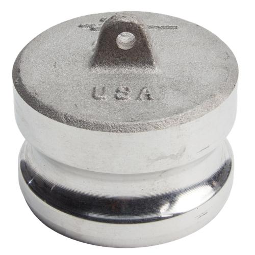 "Aluminum 2 1/2"" Male Camlock Dust Plug (USA)"