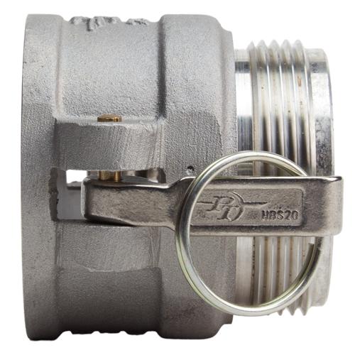 """Aluminum 2 1/2"""" Female Camlock x 2 1/2"""" Male NH (USA) - DA25F25MNH"""