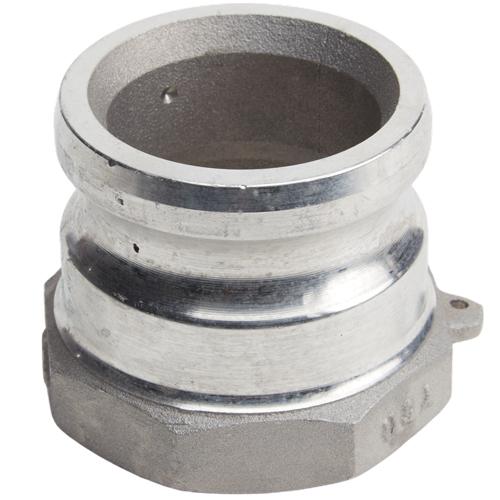 "Aluminum 2 1/2"" Male Camlock x 2 1/2"" Female NPT (USA)"