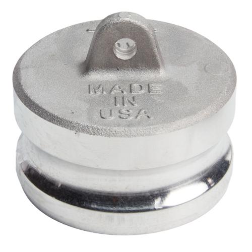 "Aluminum 3"" Male Camlock Dust Plug (USA)"