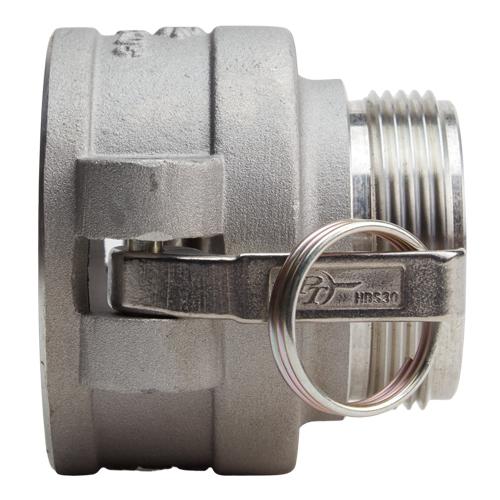 """Aluminum 3"""" Female Camlock x 2 1/2"""" Male NH (USA) - DA30F25MNH"""