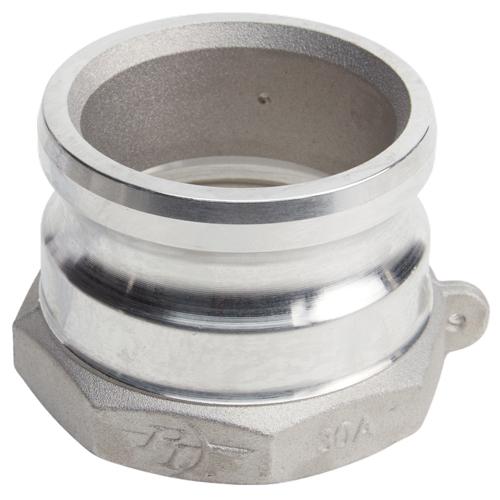 "Aluminum 3"" Male Camlock x 3"" Female NPT (USA)"