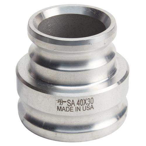 "Aluminum 3"" Male Camlock x 4"" Male Camlock (USA)"