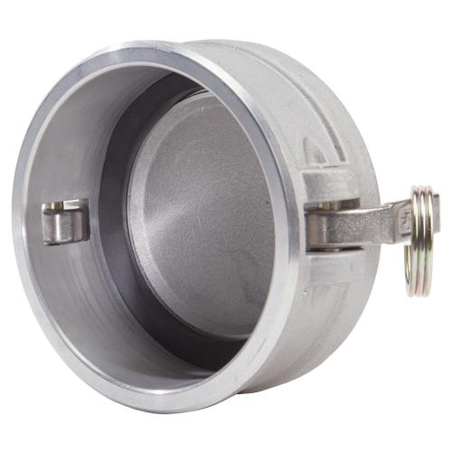 """Aluminum 4"""" Female Camlock Dust Cap (USA) - DA40DC"""