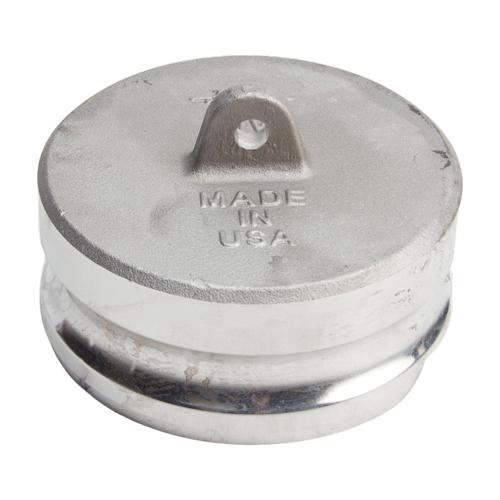 "Aluminum 4"" Male Camlock Dust Plug (USA)"