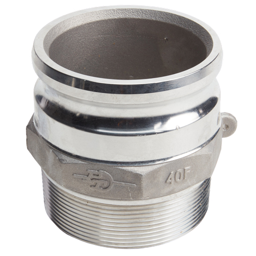 "Aluminum 4"" Male Camlock x 4"" Male NPT (USA)"