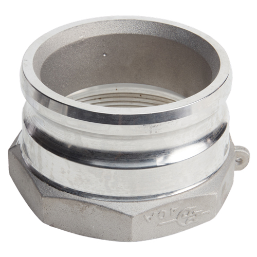 "Aluminum 4"" Male Camlock x 6"" Female NPT (USA)"