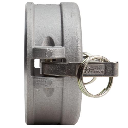 """Aluminum 6"""" Female Camlock Dust Cap (USA) - DA60DC"""
