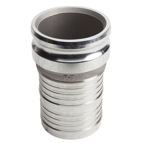 "Aluminum 6"" Male Camlock to Hose Shank (USA)"