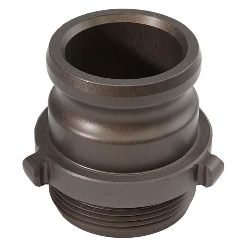 """Aluminum 2 1/2"""" Male Camlock x 2 1/2"""" Male NH High Pressure"""