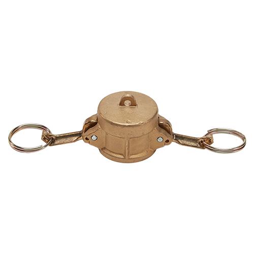 """Brass 1/2"""" Female Camlock Dust Cap (USA)"""
