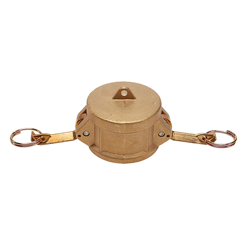 """Brass 1 1/2"""" Female Camlock Dust Cap (USA)"""