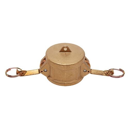 """Brass 2"""" Female Camlock Dust Cap (USA)"""