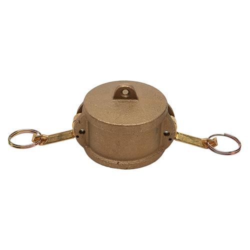 """Brass 2 1/2"""" Female Camlock Dust Cap (USA)"""